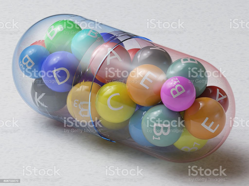 Multivitamin stock photo