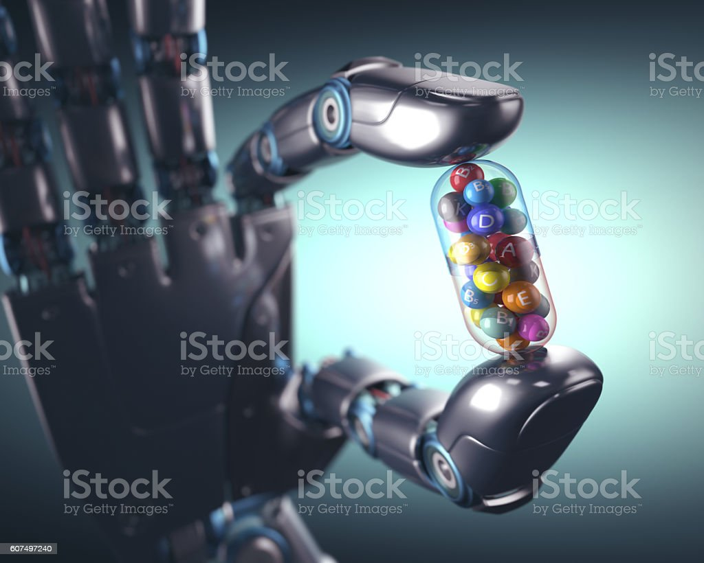 Multivitamin Pill Industry vector art illustration