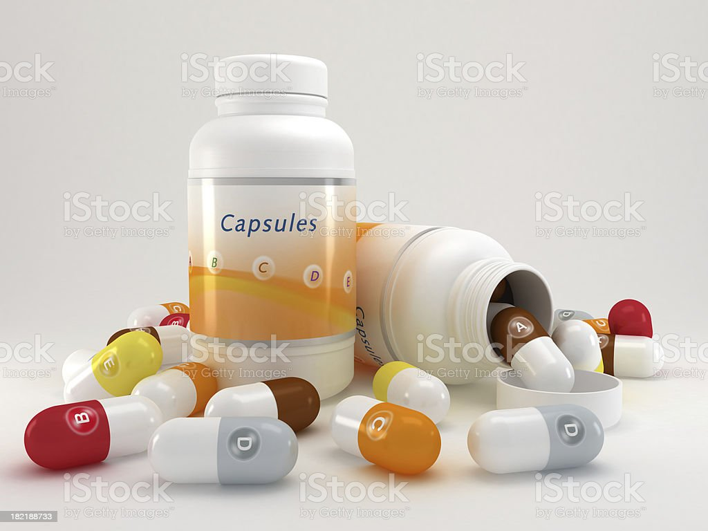Multivitamin pills royalty-free stock photo
