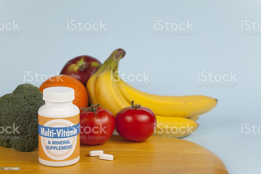 Multi-Vitamin Still Life royalty-free stock photo