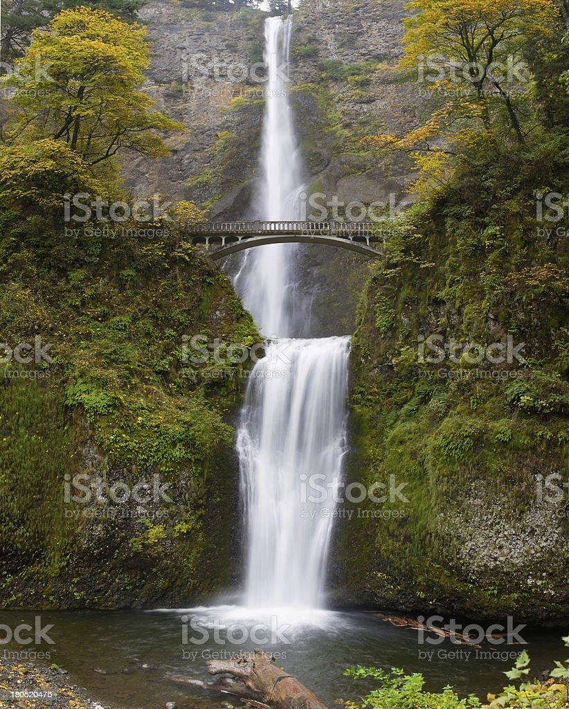 Multnomah Falls at Columbia River Gorge Oregon royalty-free stock photo