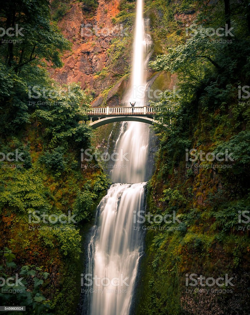 Multnomah Falls, Columbia River Gorge, Oregon stock photo