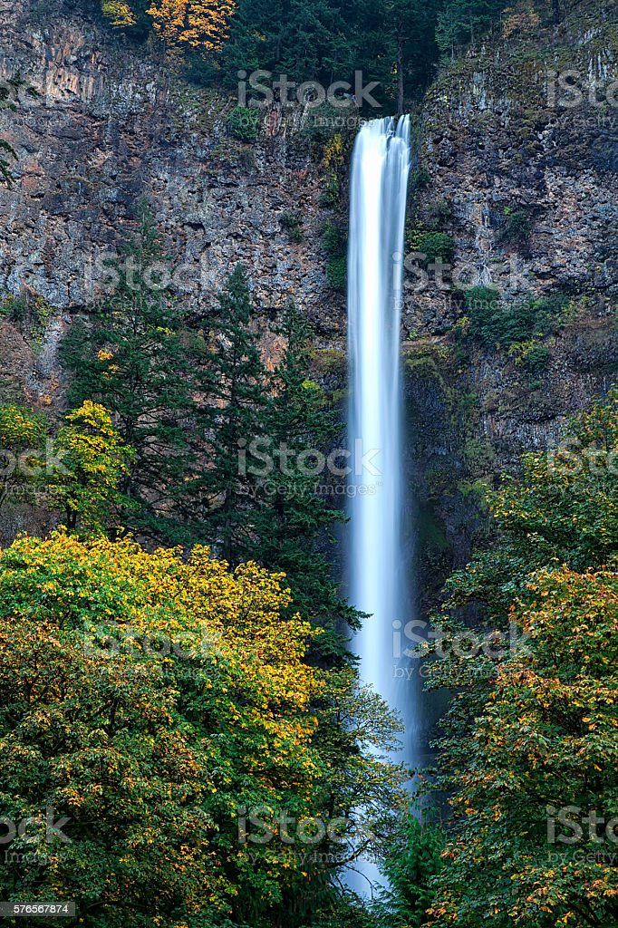 Multnomah Falls Columbia River Gorge stock photo