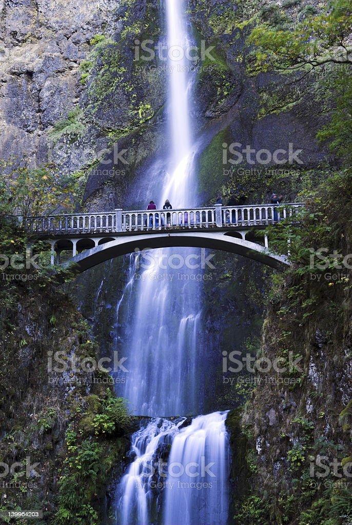 Multnomah Falls in oregon royalty-free stock photo