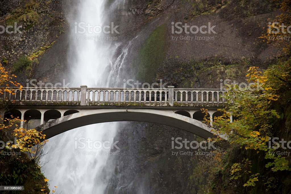Multnomah Falls, Oregon, 2013 stock photo