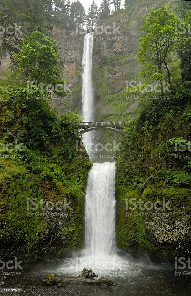 multnomah falls oregon stock photo