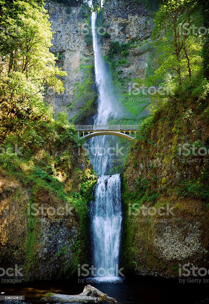 Multnomah Falls Oregon waterfall stock photo