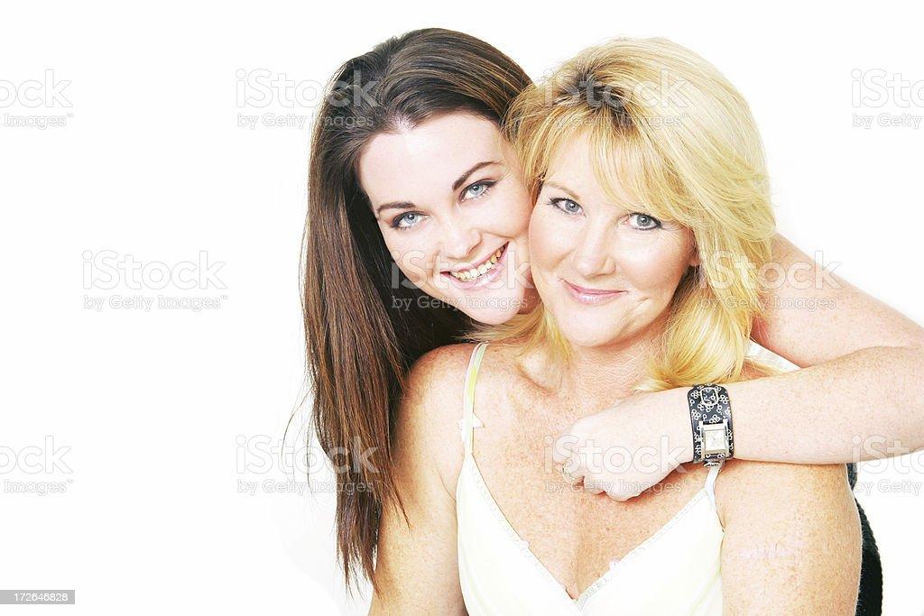 Mum and Daughter stock photo