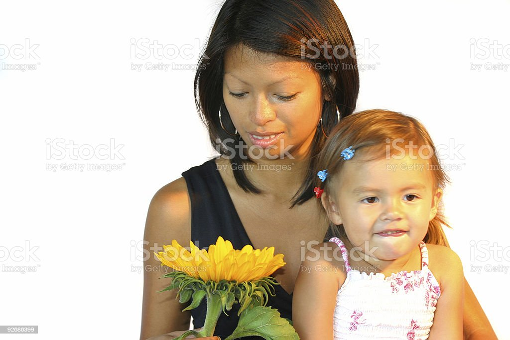 Mum and daughter royalty-free stock photo