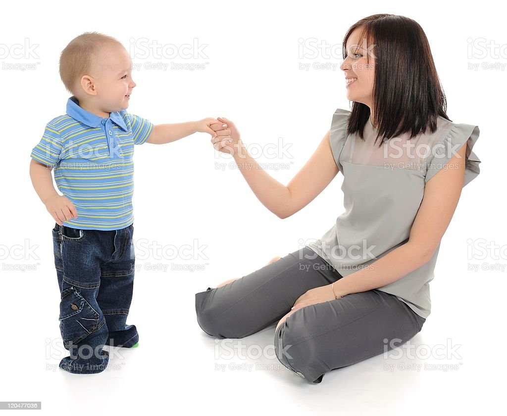 Mum and son. stock photo