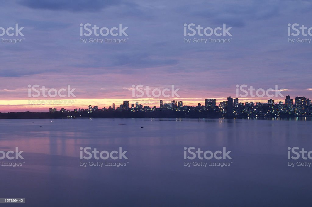 Mumbai at dusk stock photo