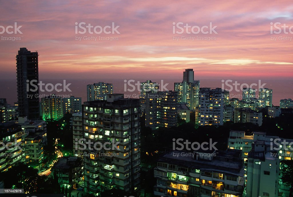 Mumbai at dusk XXXL stock photo