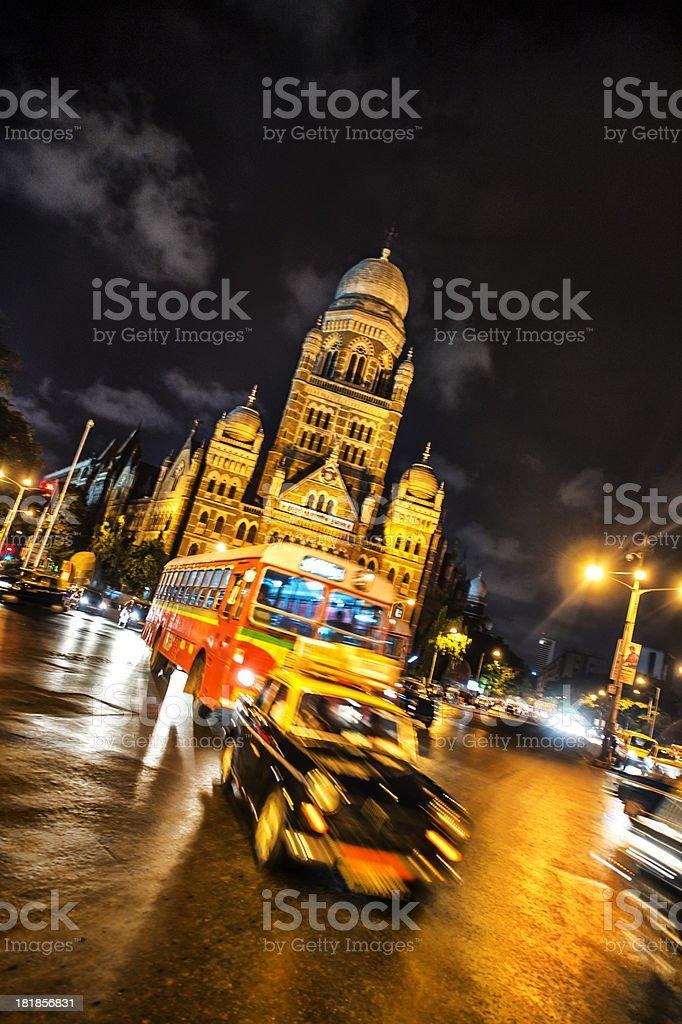 Mumbai at night stock photo