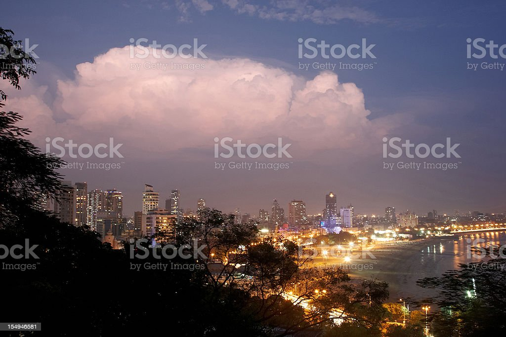 Mumbai by night stock photo