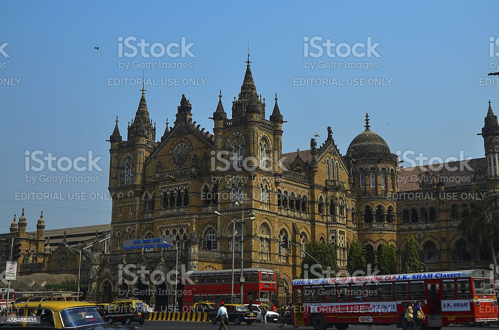 Mumbai Chhatrapati Shivaji Terminus Railway Station stock photo
