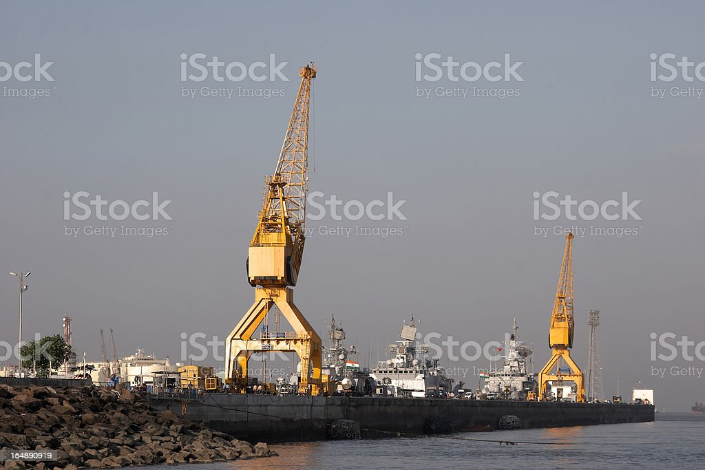 Mumbai Dock scene royalty-free stock photo