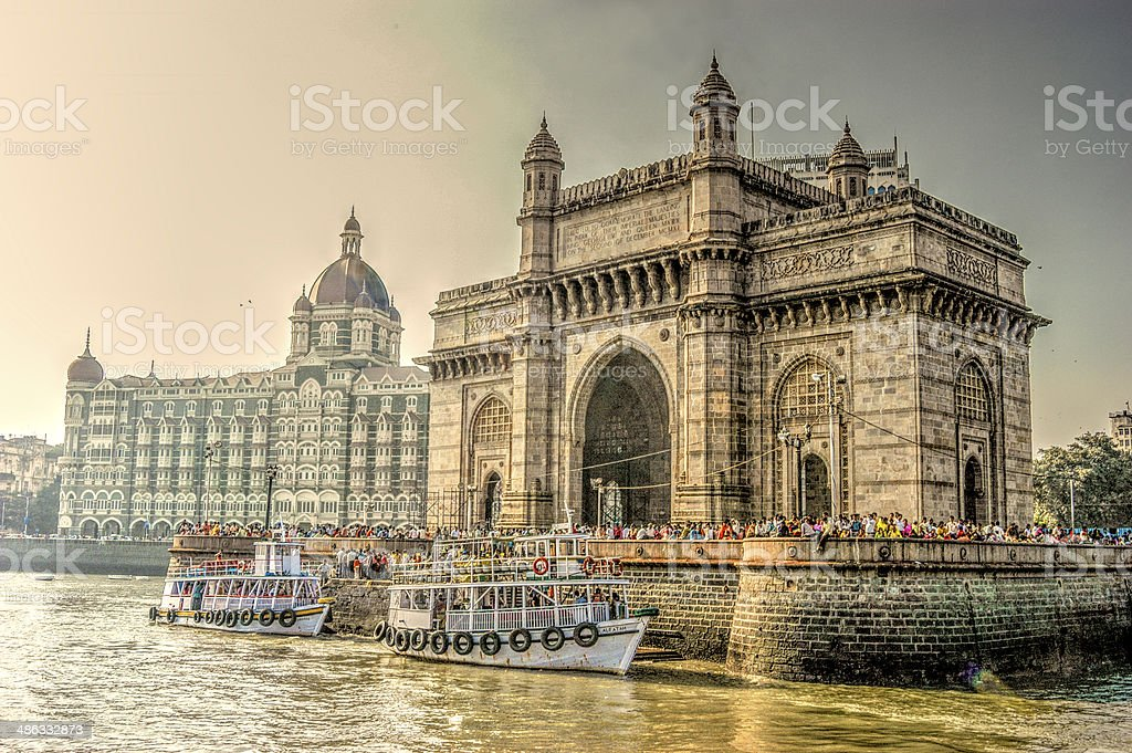 HDR, Mumbai Monuments, India stock photo