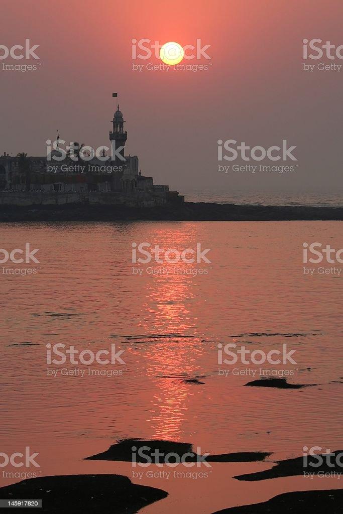 Mumbai sunset royalty-free stock photo