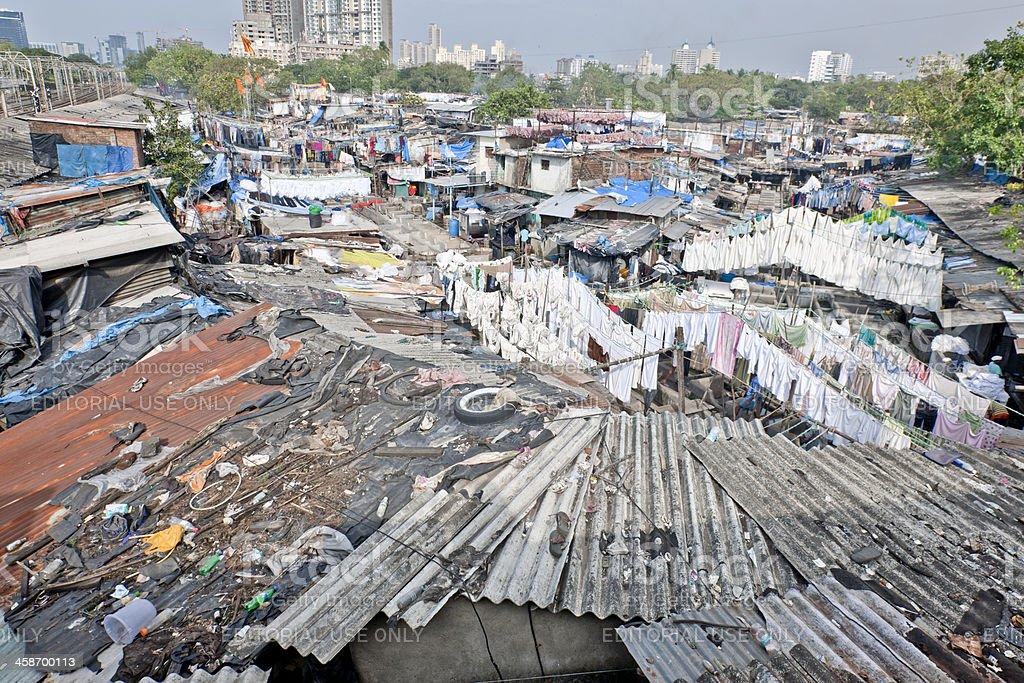 Mumbai washes its laundry in public royalty-free stock photo