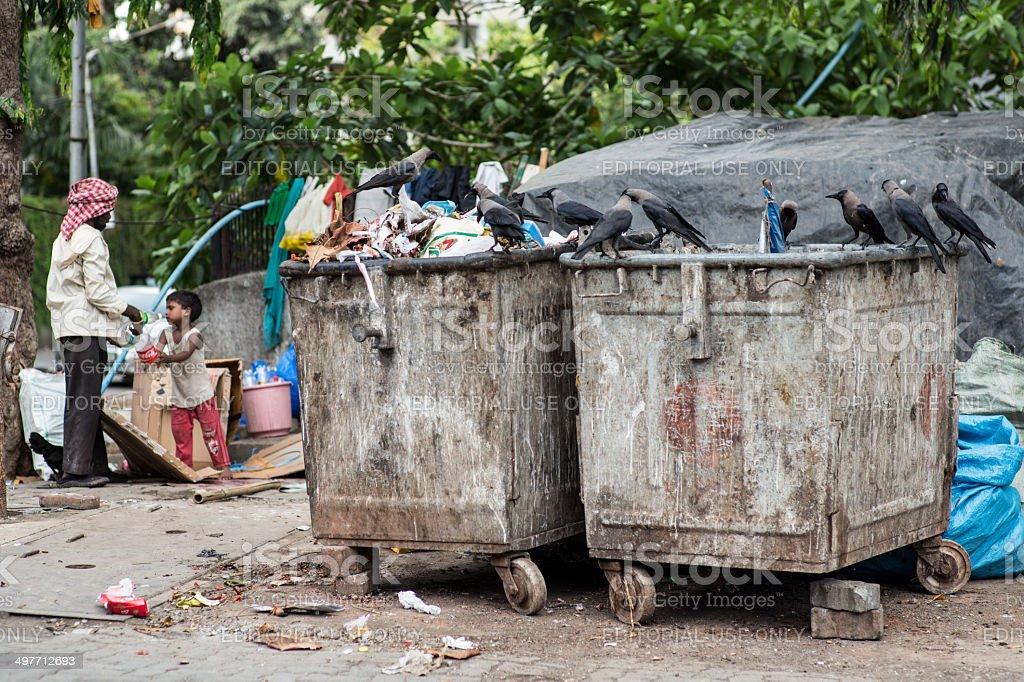 Mumbai_Garbage stock photo