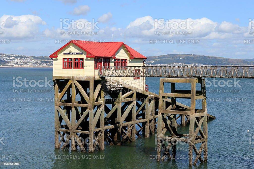 Mumbles Lifeboat Station stock photo