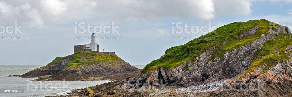 Mumbles Lighthouse stock photo