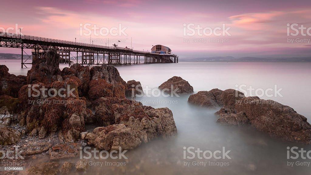 Mumbles pier, Swansea stock photo