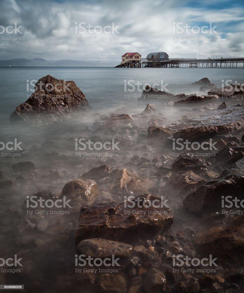 Mumbles pier Swansea stock photo