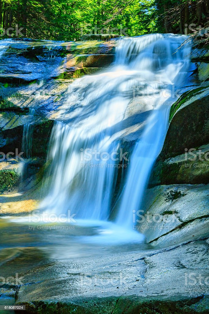 Mumlava waterfall in the Karkonosze National Park, Harrachov. stock photo