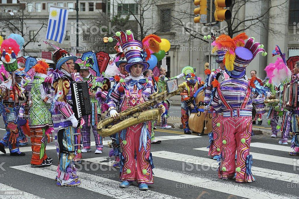 Mummer's Parade in Philadelphia stock photo