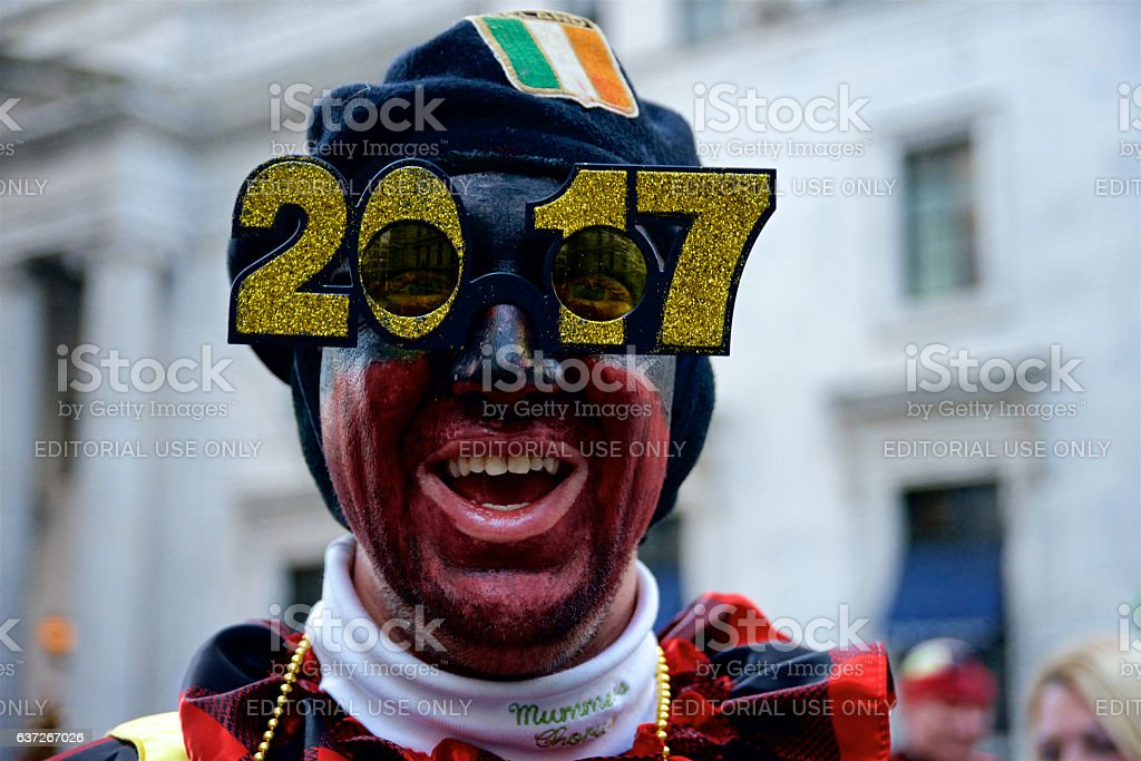 Mummer's Parade rings in New Year in Philadelphia, PA stock photo