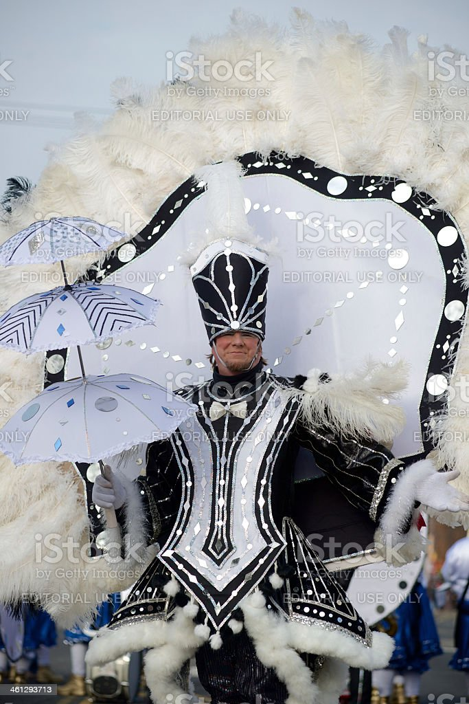 Mummers strut at Philly's New Years Day Parade stock photo