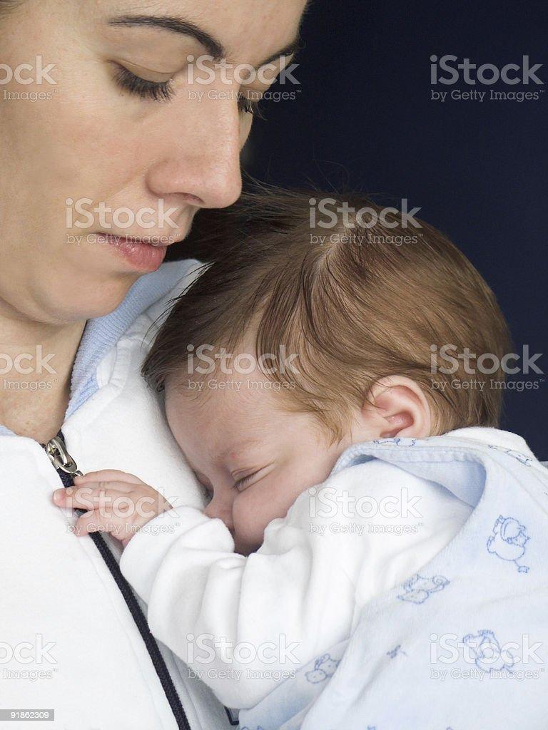 Mummy and baby royalty-free stock photo