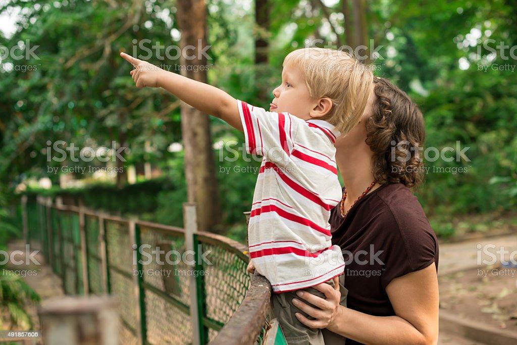 Mummy, look! stock photo