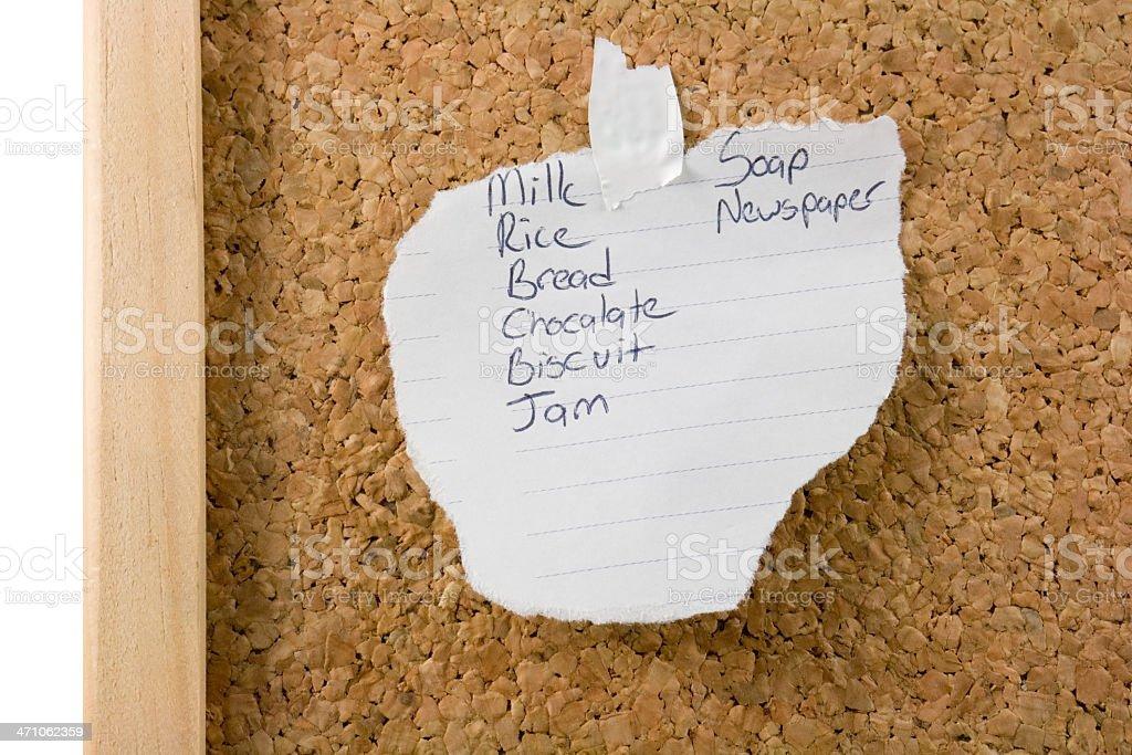 Mum's Shopping list stock photo