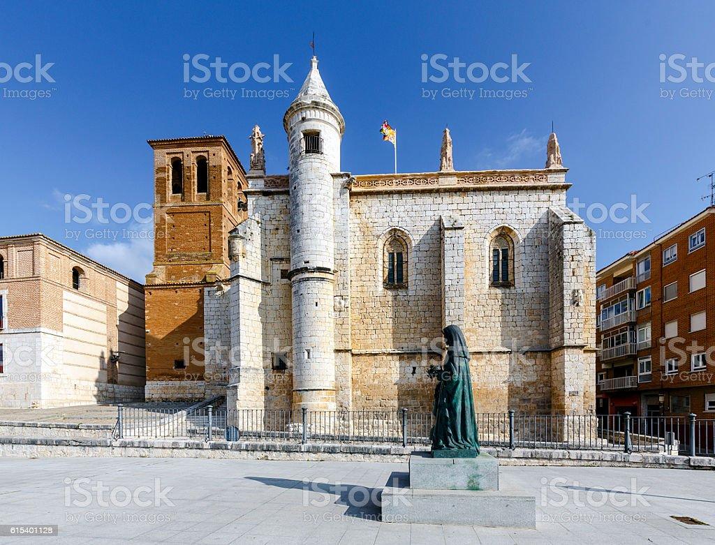 Mun Antolin church in Tordesillas Spain stock photo