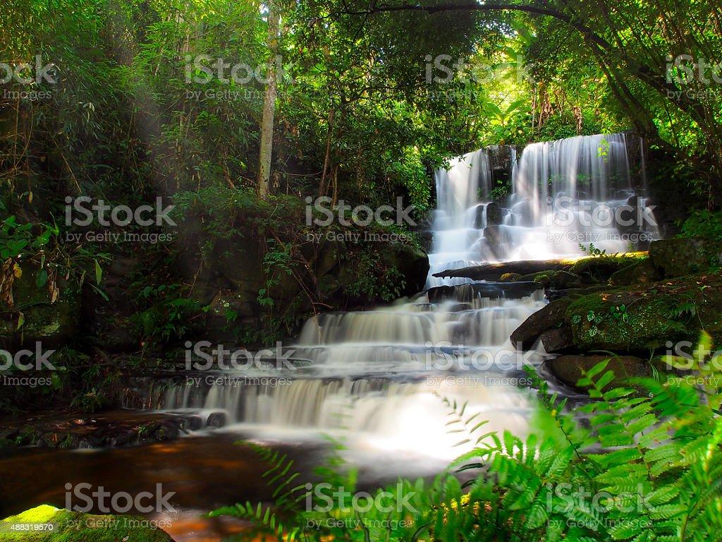 Mundang waterfall, Petchaboon, Thailand stock photo