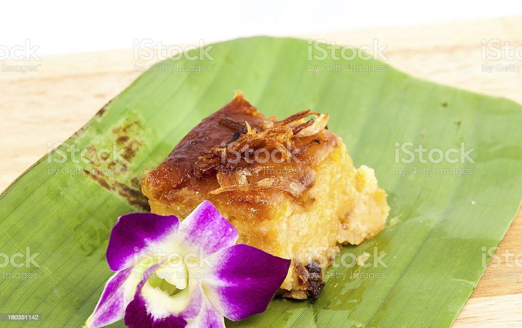 Mung bean Thai Custard Dessert Recipe royalty-free stock photo