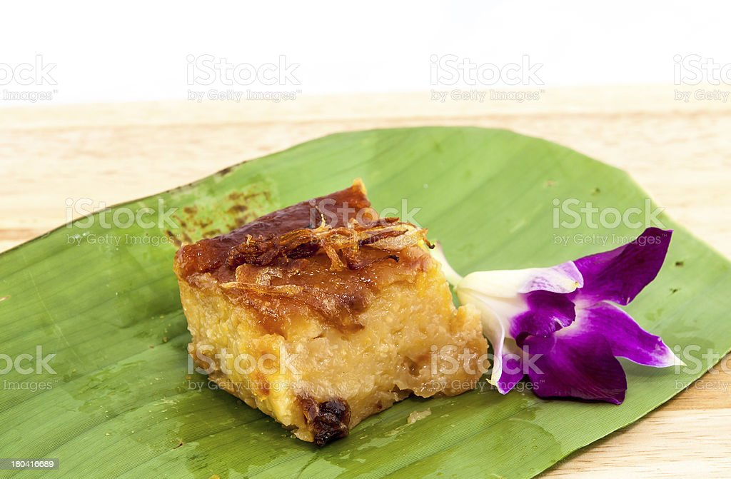 Mung bean Thai Custard Dessert Recipe royalty-free stock photo