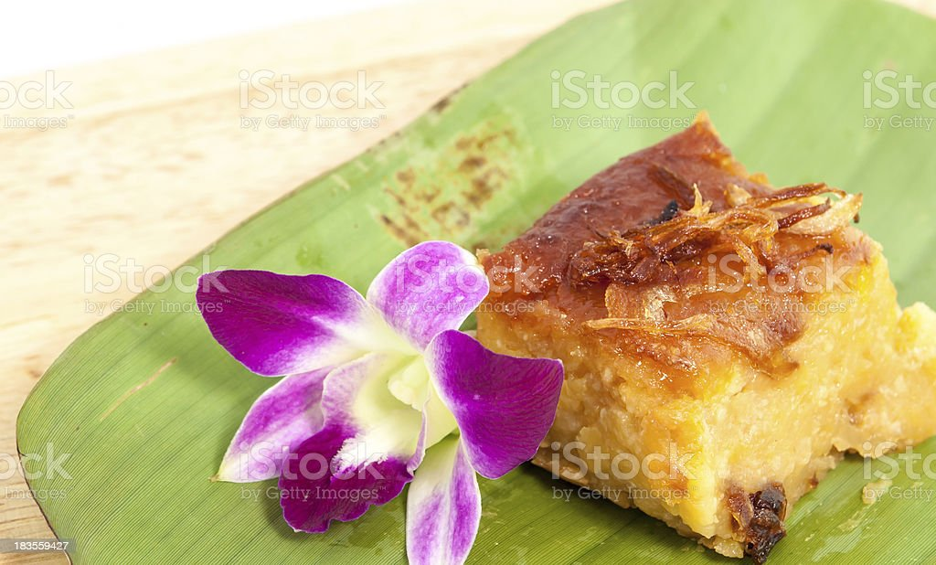 Mung bean Thai Custard Dessert Recipe stock photo