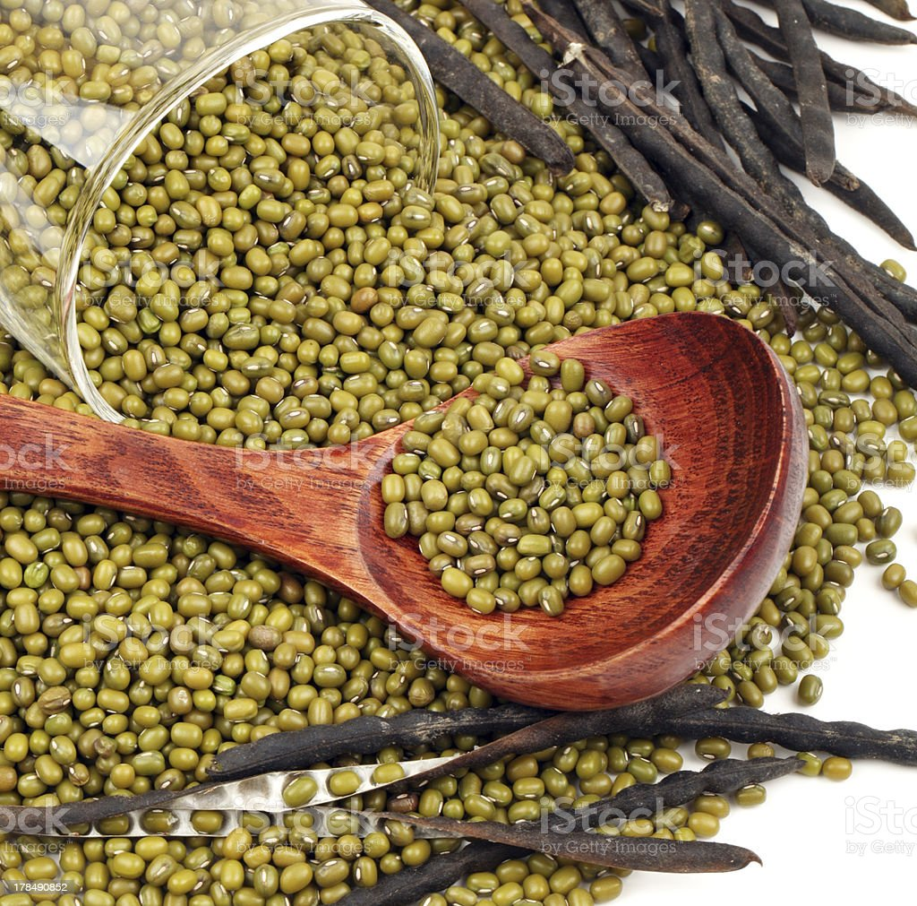 Mung beans royalty-free stock photo