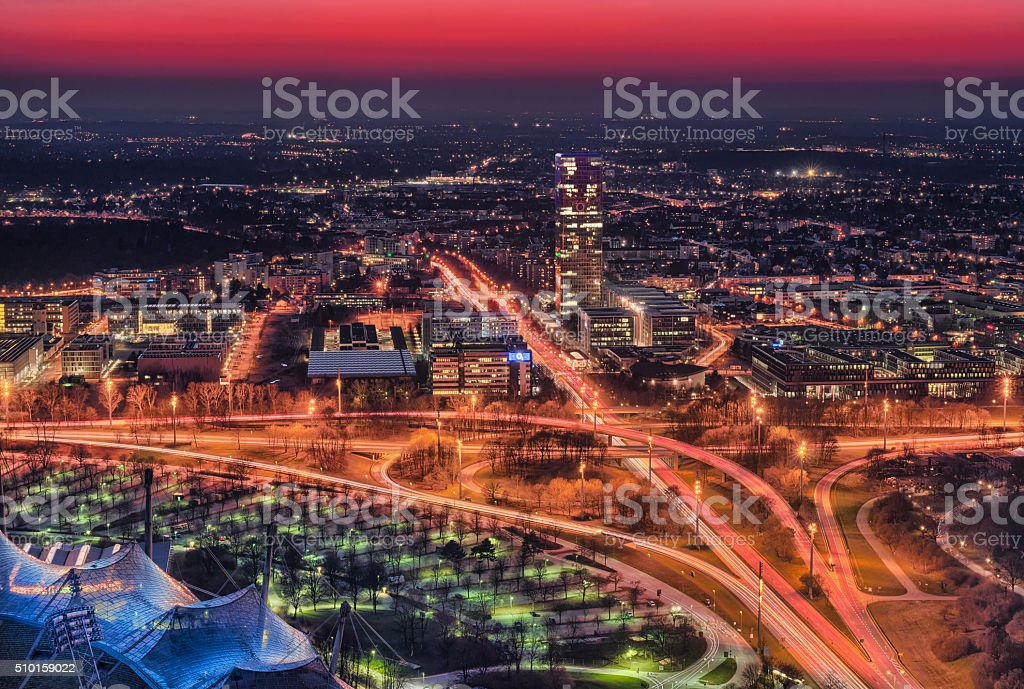 Munich aerial View stock photo