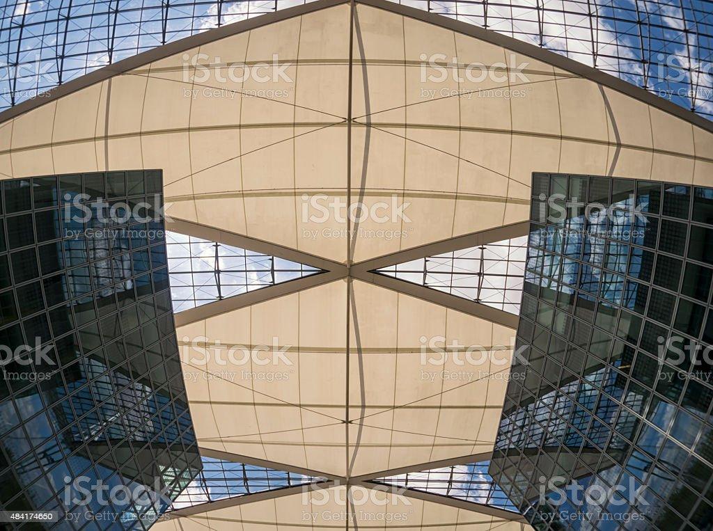 Munich airport center stock photo