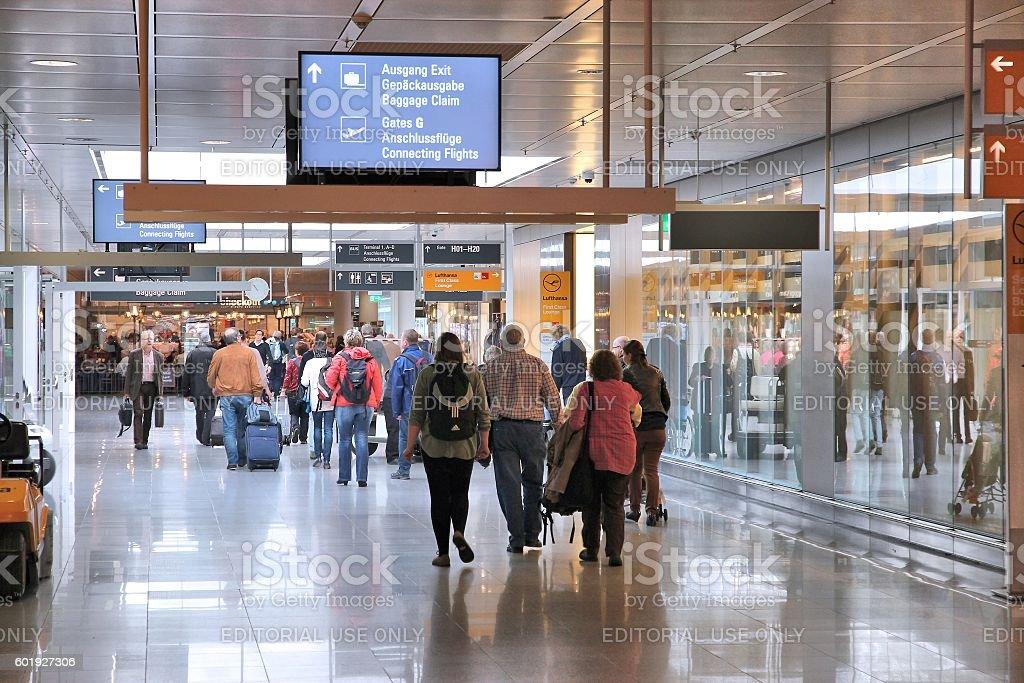 Munich Airport, Germany stock photo