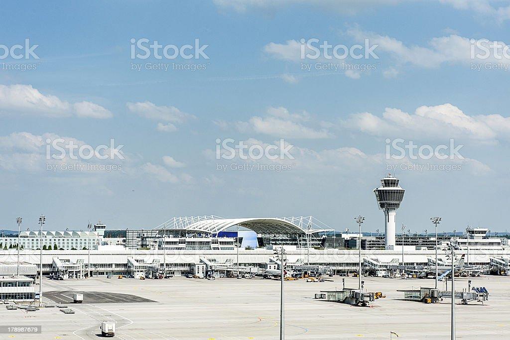 Munich Airport royalty-free stock photo