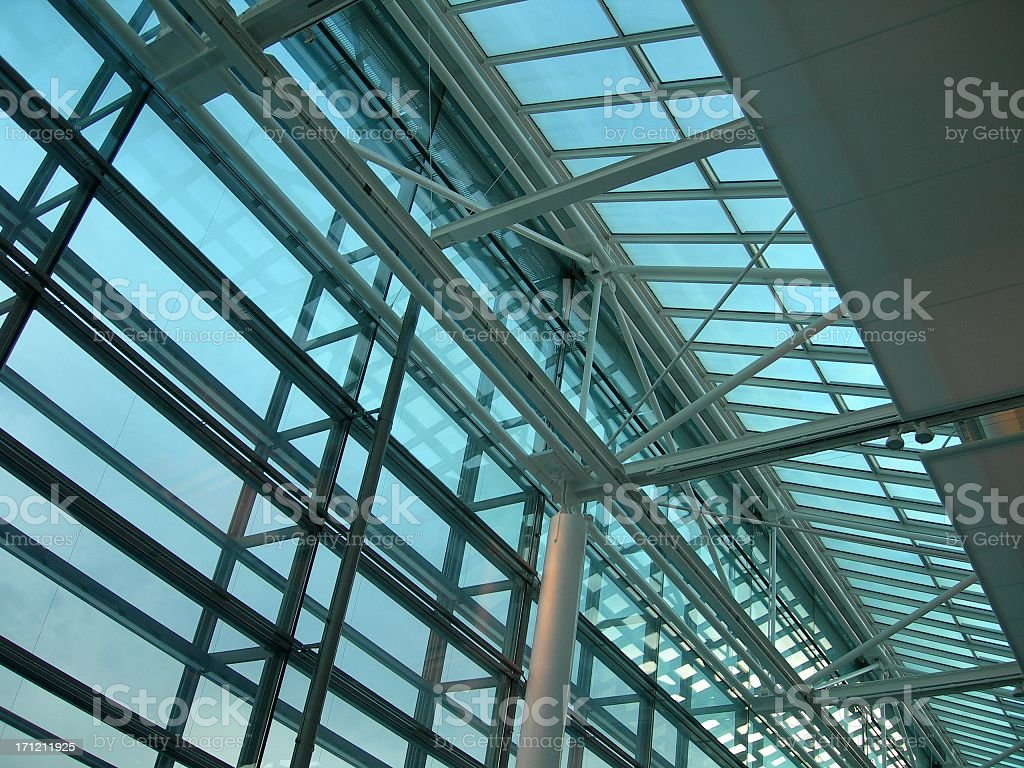 Munich Airport Roof 01 royalty-free stock photo