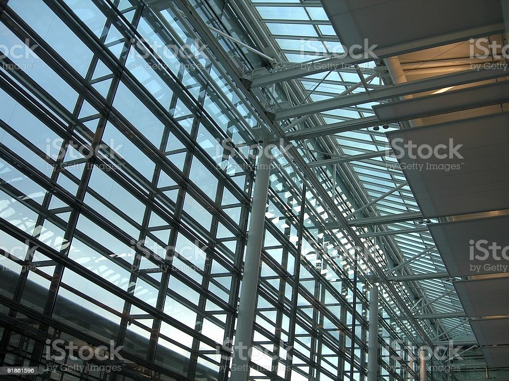 Munich Airport Roof 02 royalty-free stock photo