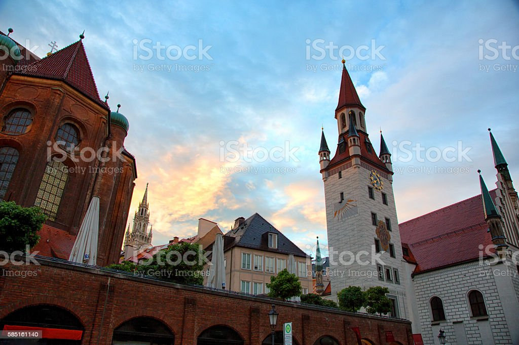 Munich Altes Rathaus, Old Town Hall In Munich, Germany stock photo