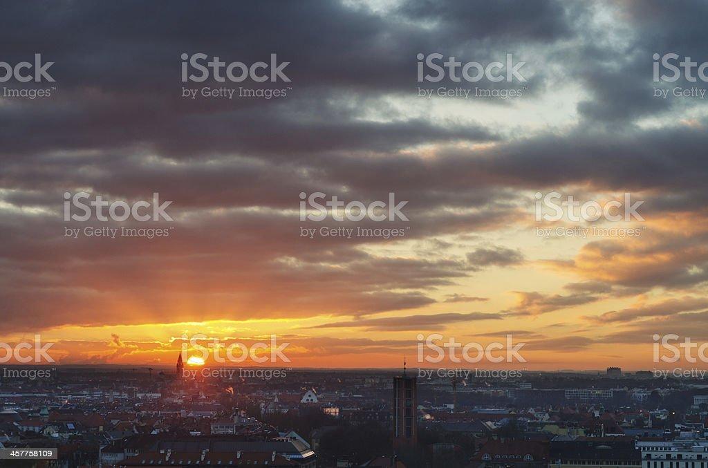 Munich at Sunset royalty-free stock photo