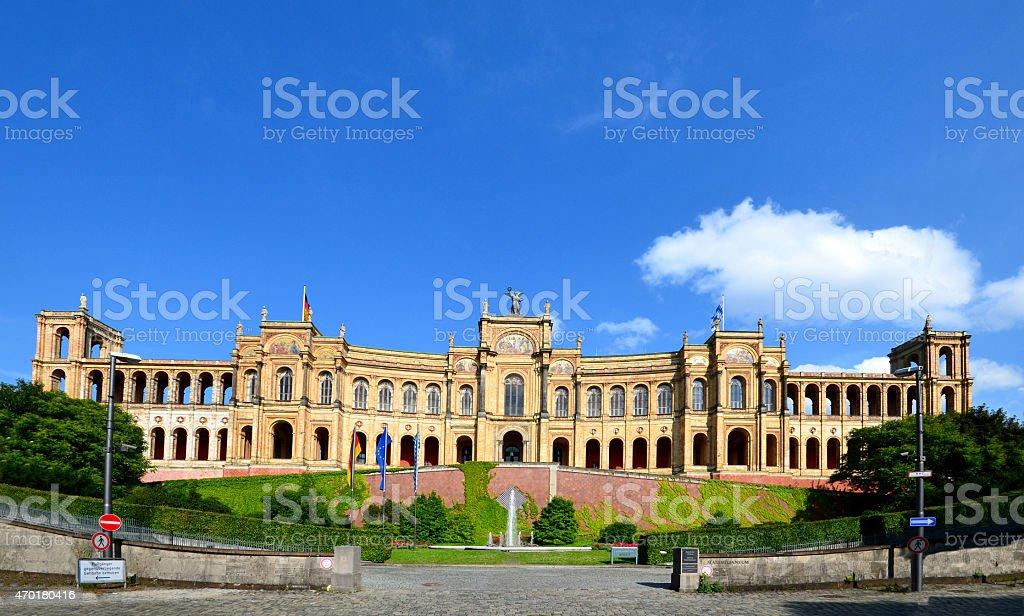 Munich, Bavaria: Maximilianeum - Bavarian state parliament stock photo